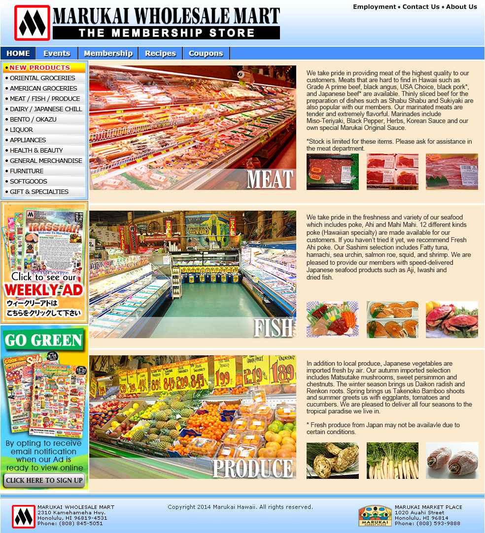 Marukai wholesale mart japanese asian grocery store in for Fish stores in ma